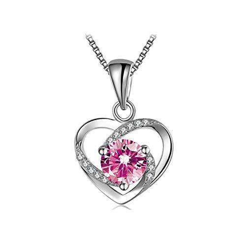 Herzkette Kette herz Damen Silber 999 Zirconia von Swarovski Halsketten für frauen Schmuck Damen Geschenke Für Frauen Frauen Geschenke Zum Geburtstag Mutterstag Valentintag