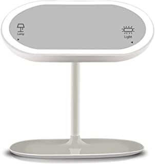 Little Fairy, Makeup Mirror, Makeup Mirror Dual-Purpose Rechargeable LED Makeup Mirror with Lamp Table Lamp