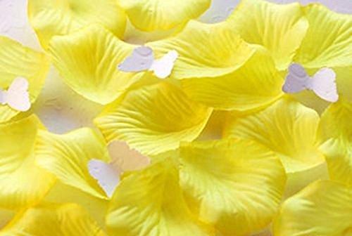 Beautyful 1000 Lemon Yellow Silk Rose Petals Wedding Flower Favor