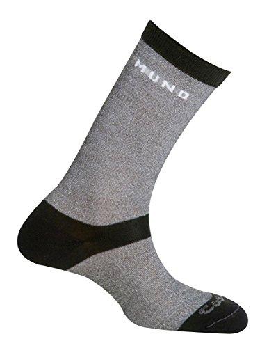 Mund Socks Calcetín Trekking Verano Sahara Liner montaña Unisex (Grey, EU 42-45)