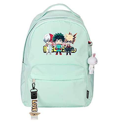 VERROL Mochila Escolar My Hero Academia para Niños, Anime Boku no Hero Moda Mochila de Impresión para Unisex Casual Daypacks Mochila de Viaje PortáTil para Adolescente Chicas