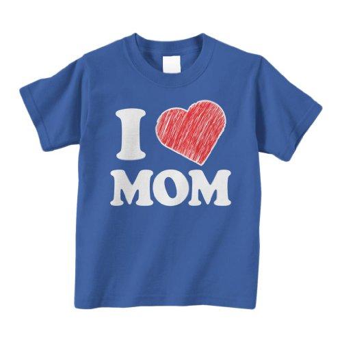 Threadrock Little Boys' I Love Mom Infant T-Shirt 6M Royal Blue