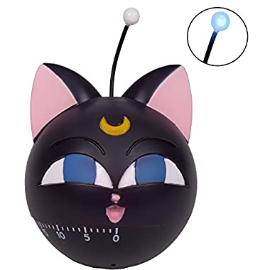 Sailor Moon Luna P Ball Kitchen Timer with Flashing Light and Sound