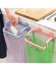 Zollyss 2 Pcs Kitchen Plastic Garbage Bag Rack Holder Cupboa