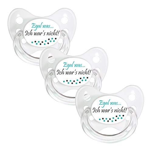 Dentistar® Schnuller 3er Set- Nuckel Silikon in Größe 3, ab 14 Monate - zahnfreundlich & kiefergerecht - Beruhigungssauger für Babys und Kleinkinder - BPA frei - Made in Germany - Weiß, Egal