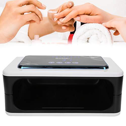Lámpara de uñas LED UV 150W, Gel de uñas Luz de curado Secador de esmalte de uñas Máquina de gel para uñas Manicura y pedicura Kit de inicio de uñas, Pantalla LCD de doble fuente de luz(US)