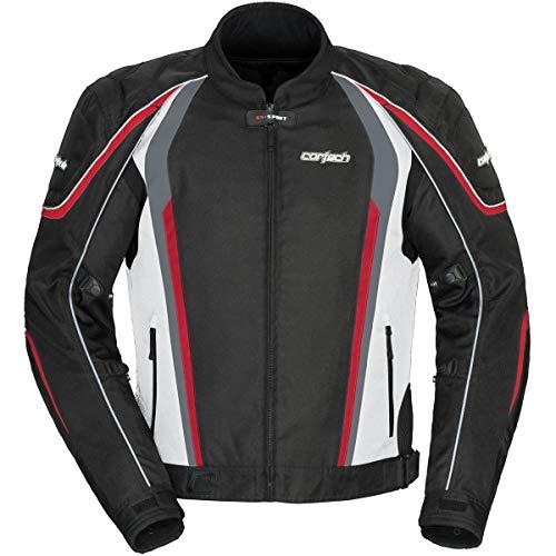 Cortech GX SPORT Men's Mesh 4.0 Racing and Motorcycle Jacket - Large, White/Black
