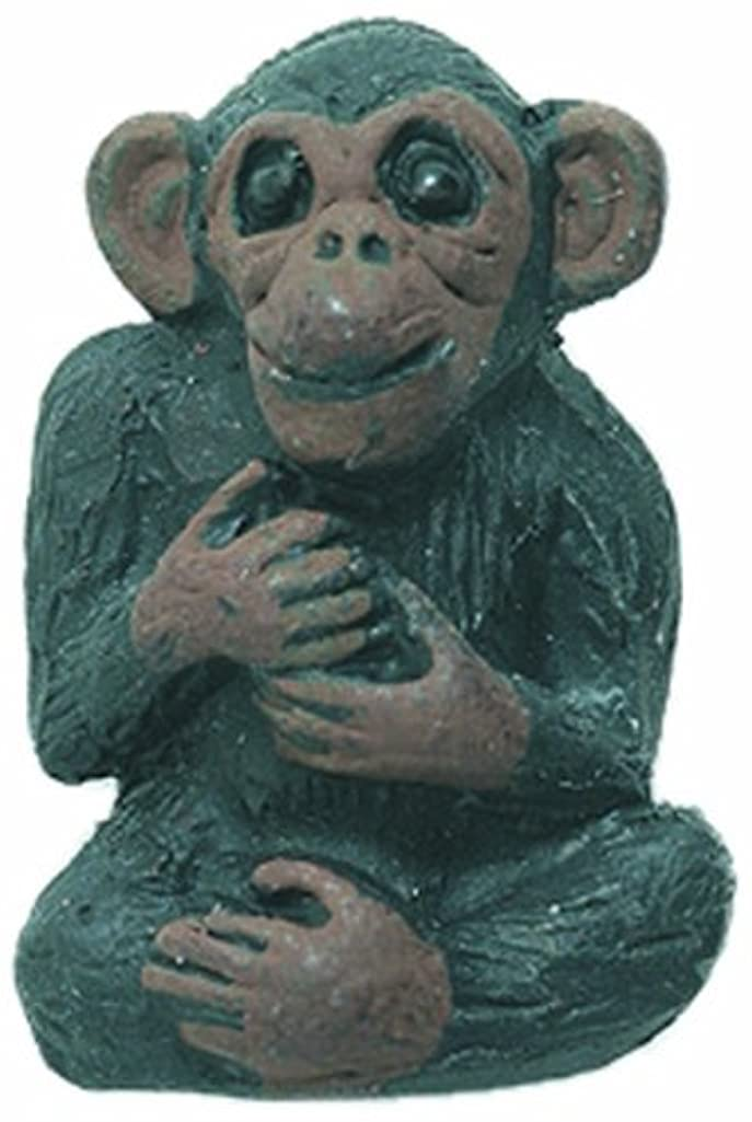 Shipwreck Beads 16 by 23mm Peruvian Hand Crafted Ceramic Monkey/Chimp Beads, Brown, 3 Per Pack