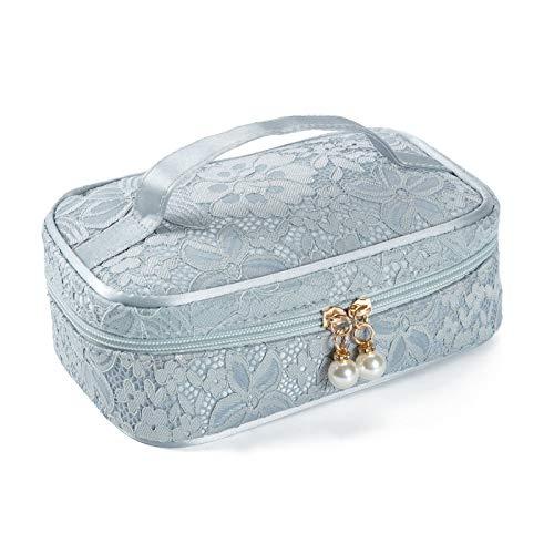 Bolso de maquillaje de viaje de nylon de encaje para mujeres Girls almacenamiento Bolsa Color de caramelo Caja cosmética 21x13x7cm CHAOCHAO (Color : 1492d)