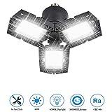 LED Garage Lights, 60W 6000LM Deformable LED Garage Ceiling Lights with 3 Adjustable Panels, E26 Super Bright LED Shop Lights for Garage, High Bay Light, Warehouse, Basement, Barn Light (1PACK)