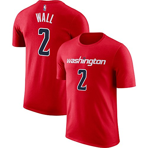 NBA Youth Performance Game Time Team Color Player Name and Number Jersey T-Shirt (Medium 10/12, John Wall)