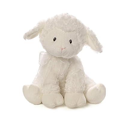 "Baby GUND Lena Lamb Musical Stuffed Animal Plush, White, 10"""