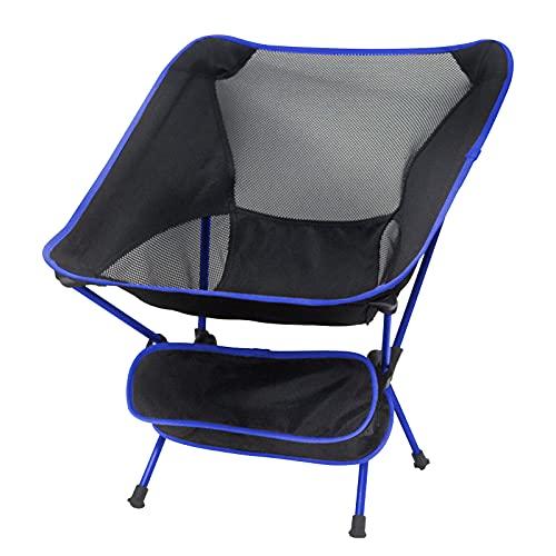 LIKMIC Tragbarer Sport- und Campingstuhl, Outdoor-Strand-Klappstühle, zusammenklappbar, leicht, Rucksackstuhl für Camping, Picknick, Wandern (blau)