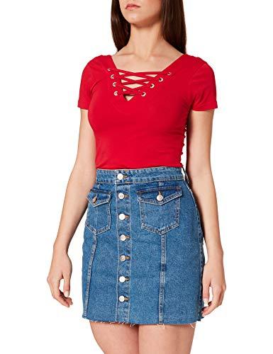ONLY Damen ONLLAGUNA Life HW Button Skirt DNM PIM Rock, Medium Blue Denim, S