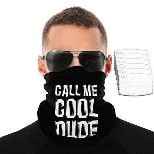 Call Me Cool Dude Handtuch für Herren und Damen, Outdoor-Sport, winddicht, atmungsaktiv Einheitsgröße Mit 6 Filtern