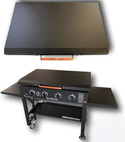 36' Black Stone Griddle Cover Lid, Powder Coated Black Aluminum Lid Storage Cover for 36 inch Black...