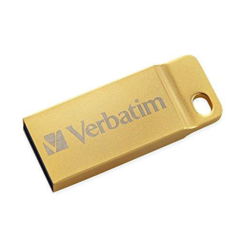Verbatim 99105 Metal Executive USB 3.0-Stick 32 GB, USB-Stick - Wasser- und staubdicht - bis zu 80 MB/s Lesen - bis zu 25 MB/s Schreiben - Gold