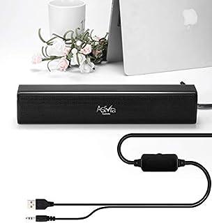 AstiVita USB Powered Sound Bar Speaker…Soundbar/Computer Speaker/hi-fi Speaker/TV Speaker/Desktop Speaker