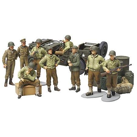 タミヤ 1/48 ミリタリーミニチュアシリーズ No.52 アメリカ陸軍 歩兵 前線休息セット プラモデル 32552