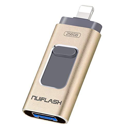 USB-Stick 256GB für iPhone speichererweiterung Speicherstick nuiflash Externer Speicherstick Flash Laufwerk Drive für iPhone iPod Handy OTG Andriod Computer Mac Laptop PC