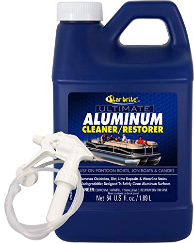 STAR BRITE Ultimate Aluminum Cleaner & Restorer - Safely Clean Pontoon...