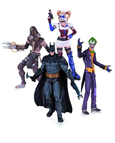 Batman Arkham Asylum, Joker, Harley Quinn, Scarecrow Bonecos Dc Collectibles