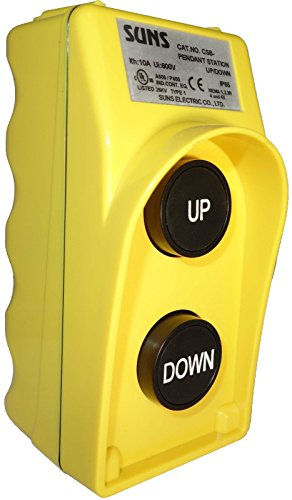 SUNS CSB-282Y UL Listed Yellow Two Speed Up/Down Pendant Station 2NO