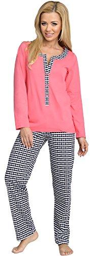 Be Mammy Damen Schlafanzug Stillpyjama 1L3C2 (Coral-1, S)