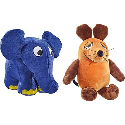 Schmidt Spiele 42189 - Die Sendung mit der Maus, Elefant Plüschtier...