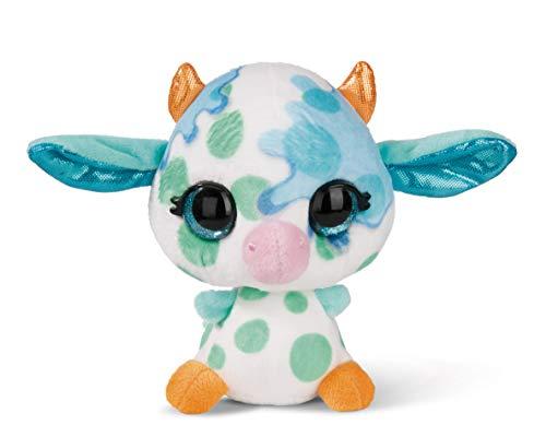 NICI 45292 Kuscheltier NICIdoos Baby-Kuh 12cm, Flauschiges Plüschtier für Kinder und Kuscheltierliebhaber, bunt
