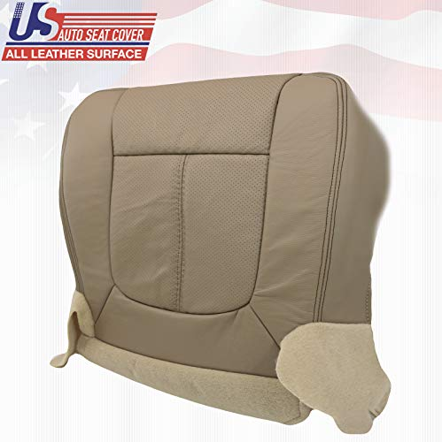 2011-2016 Compatible with Ford F250 Lariat Driver Bottom Seat Cover Perforated Leather Tan