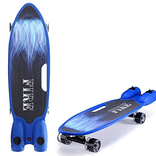 fgg Skateboard Spray Board Fession Retro Skate28 Tablero Completo Tablero de Madera Tablero Longboard para Niños Adultos Principiantes Adolescentes Niños Chicos con Rueda LED, Unisex Adulto fengong