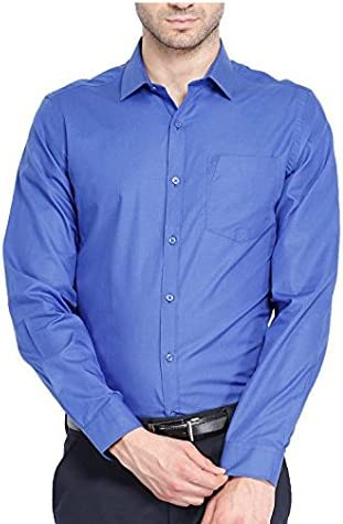 Royal Kurta - Camisa Formal para Hombre - Azul - 52: Amazon ...