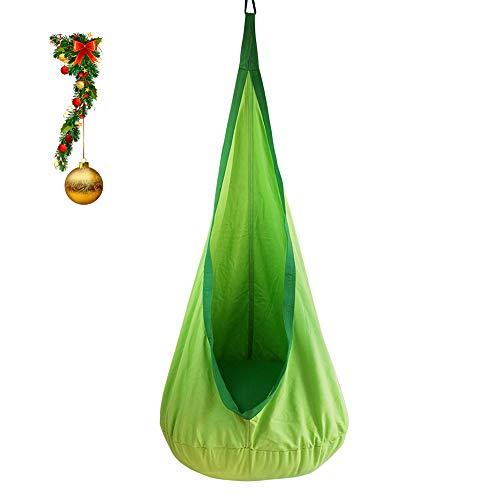 BHORMS Kids Pod Swing Seat Hammock Chair Nook for Indoor and Outdoor Hanging Hammock Nest(Green)