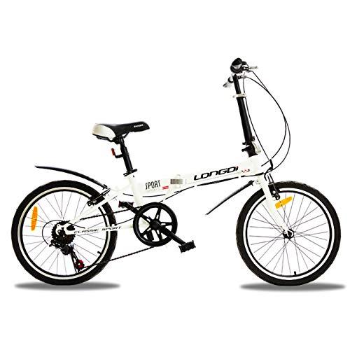 Bicicleta Plegable 20 Pulgadas, Bicicleta Plegable Urbana Velocidad Variable Cambio De Shimano/Freno V para Estudiantes Adultos Bicicleta Plegable De Rueda Pequeña A,20 Inches