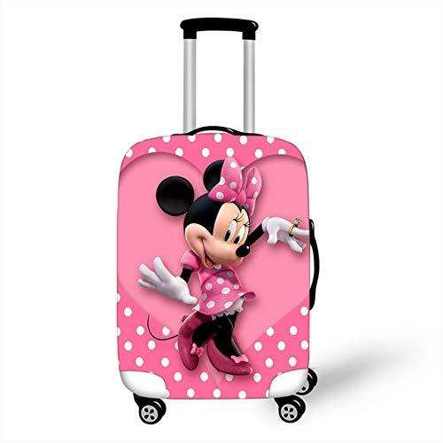 ZHIRUI - Funda elástica para maleta de equipaje, funda protectora para maleta, maleta, maletas, fundas para carrito XL accesorios de viaje 3D Minnie Mickey