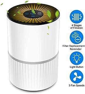 Purificador de Aire con Filtro HEPA, Filtración de 4 Etapas, Purificador Silencioso para el Hogar con 3 Velocidades de Ventilador y Función de Aromaterapia, Temporizador y Luz Nocturna Opcional