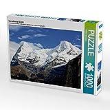 CALVENDO Puzzle Verschneite Gipfel 1000 Teile Lege-Größe