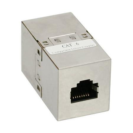 Inline Patchkabelkupplung Cat 6 2x Rj45 Buchse Computer Zubehör