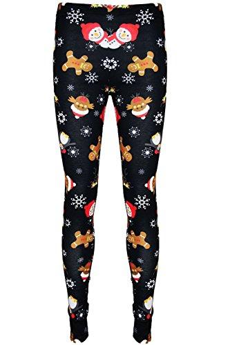 Be Jealous Girls Xmas Rudolph Reindeer Penguin Leggings Snownman & Owl Red Tartan Age 5/6 years