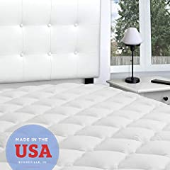 """EXTRA SOFT & THICK MATERIAL - This extra thick pad is the same as our famous rayon from bamboo mattress pad but with extra filling KING MATTRESS PAD SIZE - 76"""" x 80"""" 