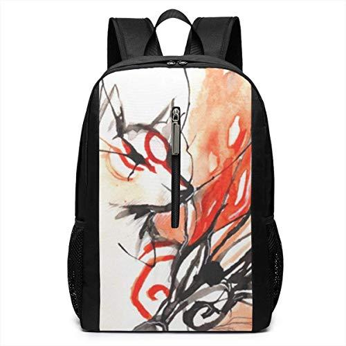 Borsa del portatile Okami Laptop Backpack 17-inch Laptop Backpack for High School Or College bookbag