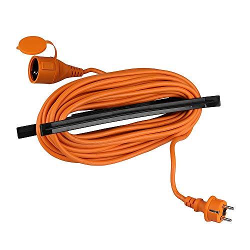 V-TAC VT-3002-15 15 Verlängerungskabel für Garten Stecker und Steckdose 16 A EU Standard orange 15 Meter IP44 - Sku 8816