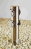 Steckdosensäule Edelstahl für Außen 4-fach IP44 mit Schalter' Made for Licht-Idee'