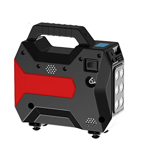Lowest Prices! QWERDF 16800 Mah Emergency Jump Starter with Compressor 200W Power Supply with Digital Display and LED Light