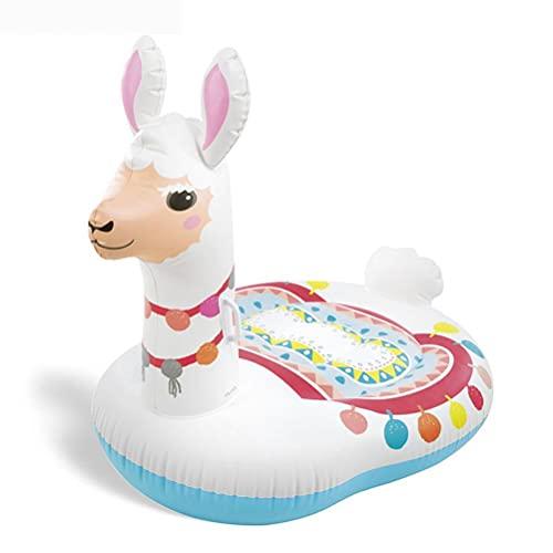 Boia de piscina para bebês lindos suportes de alpac infláveis assentos de animais, boias de verão, praia, piscina, festa, lounge, brinquedos, crianças, adultos