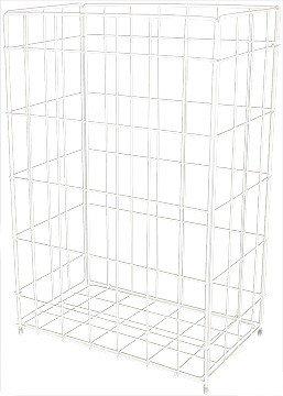 Blanc HYGIENIC - Papierkorb Fix - 50 Liter - Gitterkorb - Abfalleimer - Zum Hängen oder Stellen