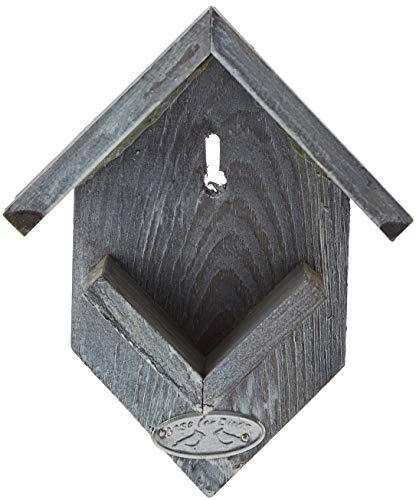 Esschert Design Erdnussbutter Haus Altes Holz, 15 x 19 x 13 cm, FB249