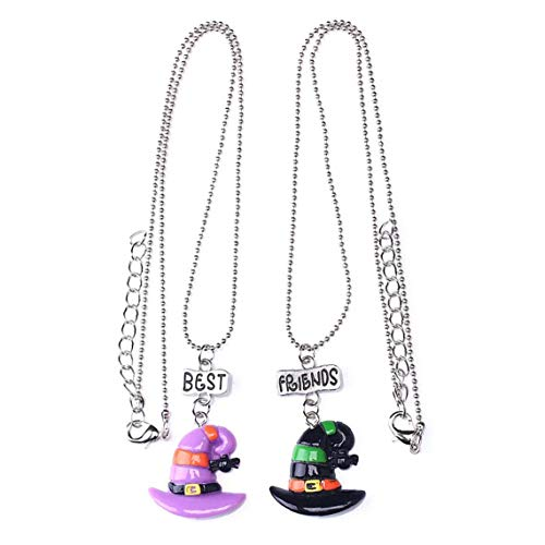 1 Set Witch Hat Pendant Necklace Choker Chain Halloween Decoration for