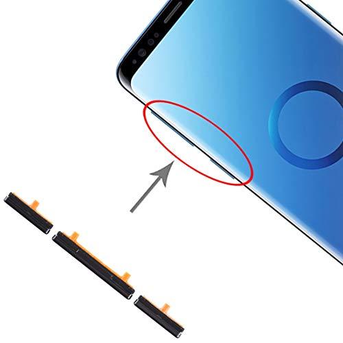 Kit de touches (noir) latérales pour touches d allumage Power On Off + bouton de contrôle du volume Side Kys compatible pour Samsung Galaxy S9 G960 S9+ G965